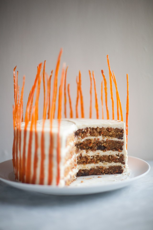 Ultimate Carrot Cake with Candied Carrot Peels | ZoëBakes | Zoë François
