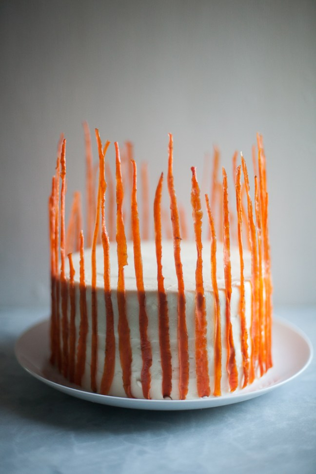 The ultimate carrot cake with candied carrot peels | ZoeBakes photo by Zoë François