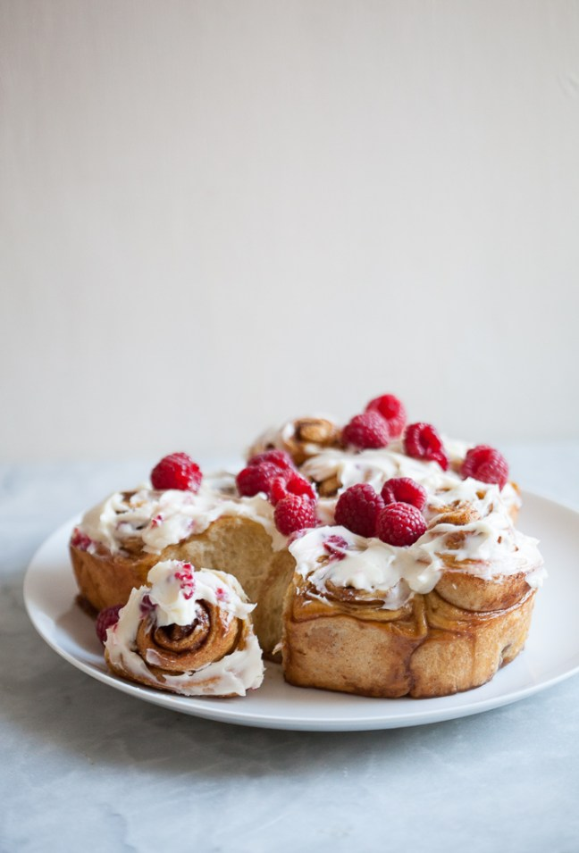 Valentine's Day Cinnamon Rolls | ZoeBakes photo by Zoë François