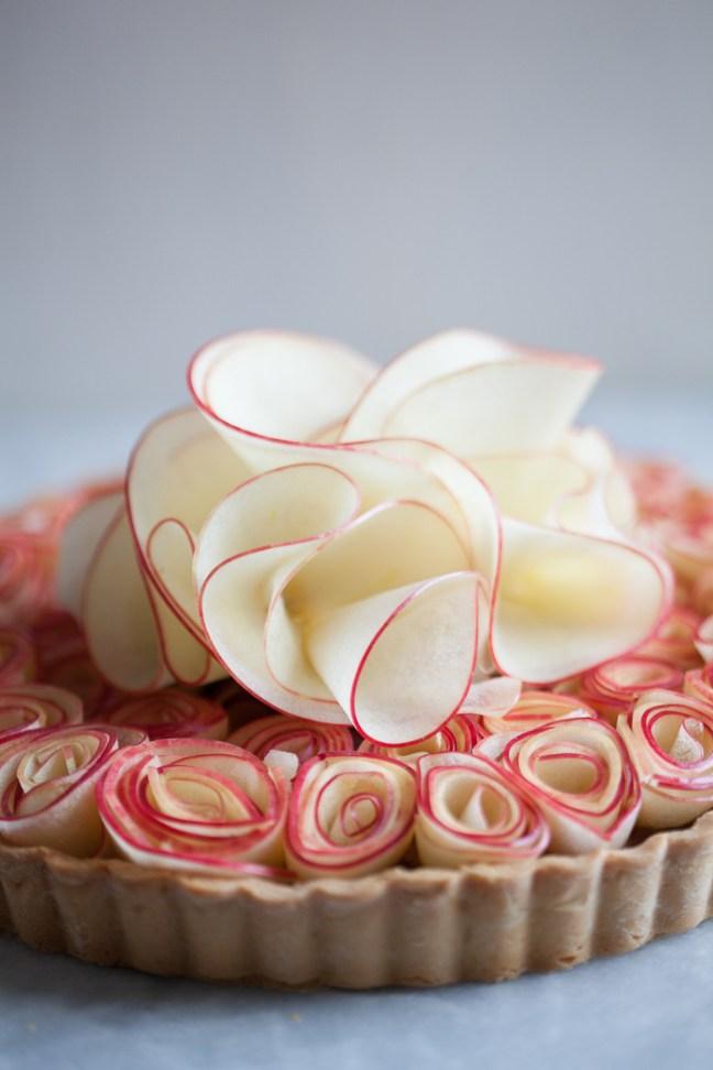 Apple Butter Rose Tart | ZoeBakes photo by Zoë François