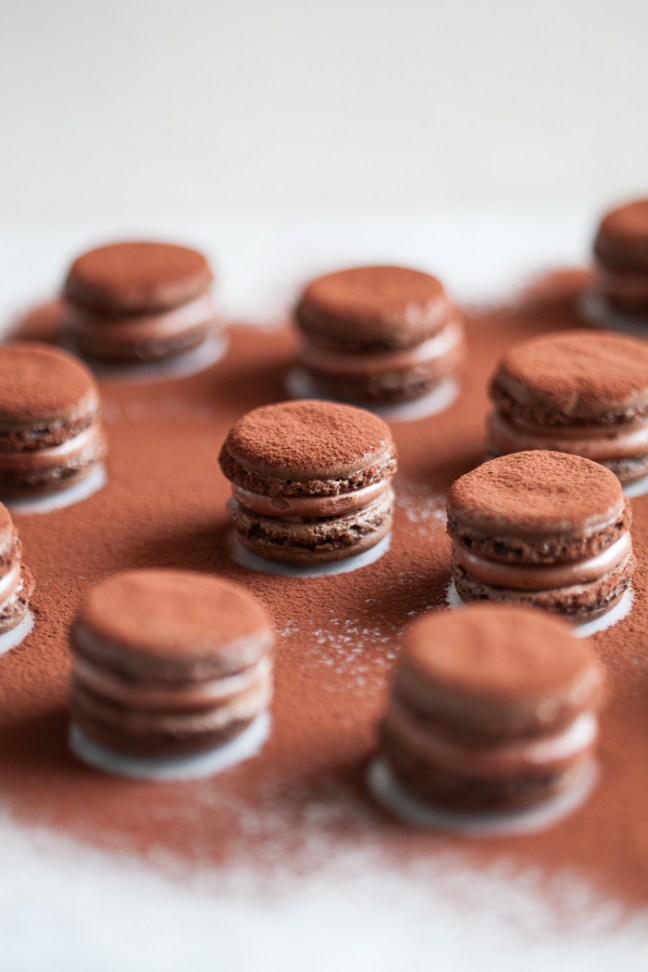 Chocolate macarons | ZoëBakes photo by Zoë François