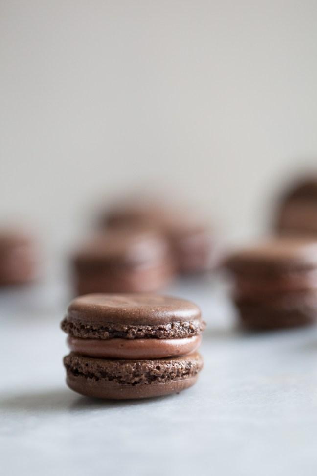Chocolate macarons | ZoëBakes photo by Zoë François