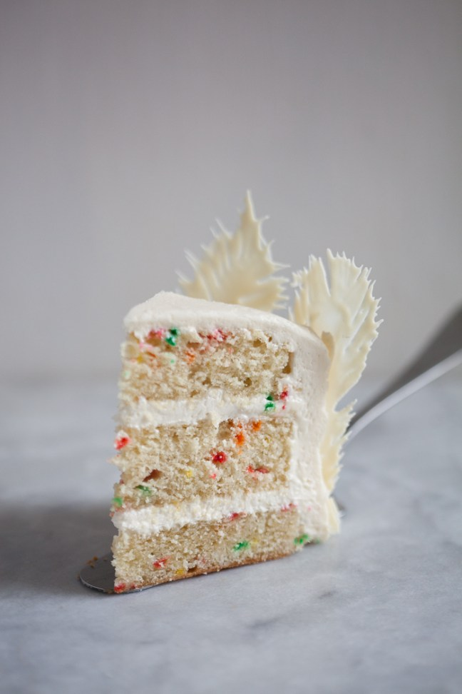 Tremendous Funfetti Birthday Cake With Chocolate Feathers Zoebakes Personalised Birthday Cards Paralily Jamesorg