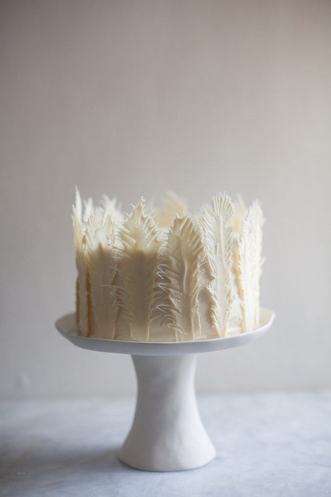 Funfetti Birthday Cake with Chocolate Feathers | ZoëBakes photo by Zoë François