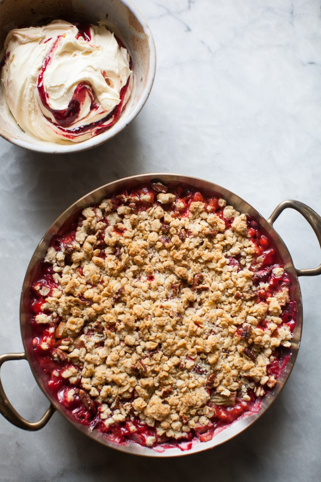 Rhubarb Berry Crumble | ZoeBakes photo by Zoë François
