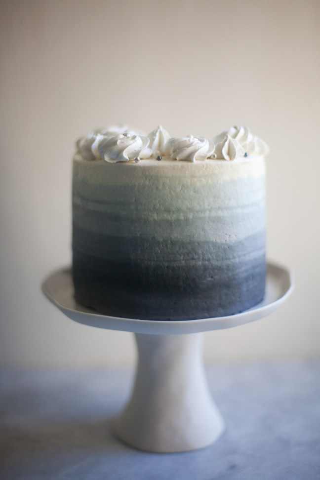 Silver Ombre Cake | ZoeBakes photo by Zoë François