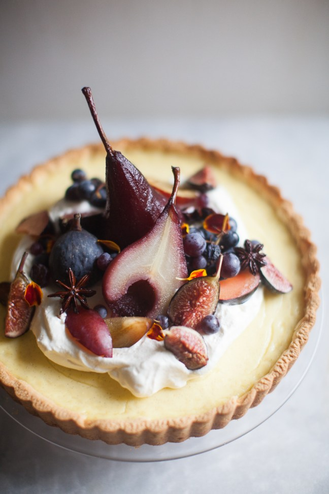 Poached Pear Tart | ZoëBakes photo by Zoë François