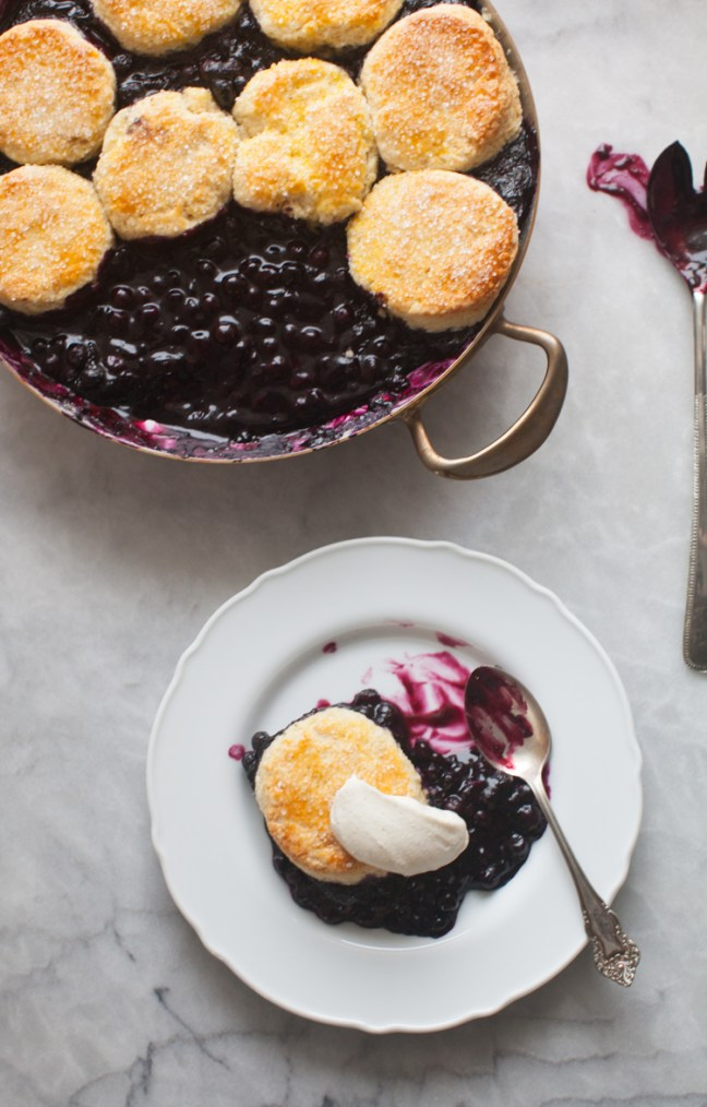 Blueberry Cobbler | ZoeBakes photo by Zoë François