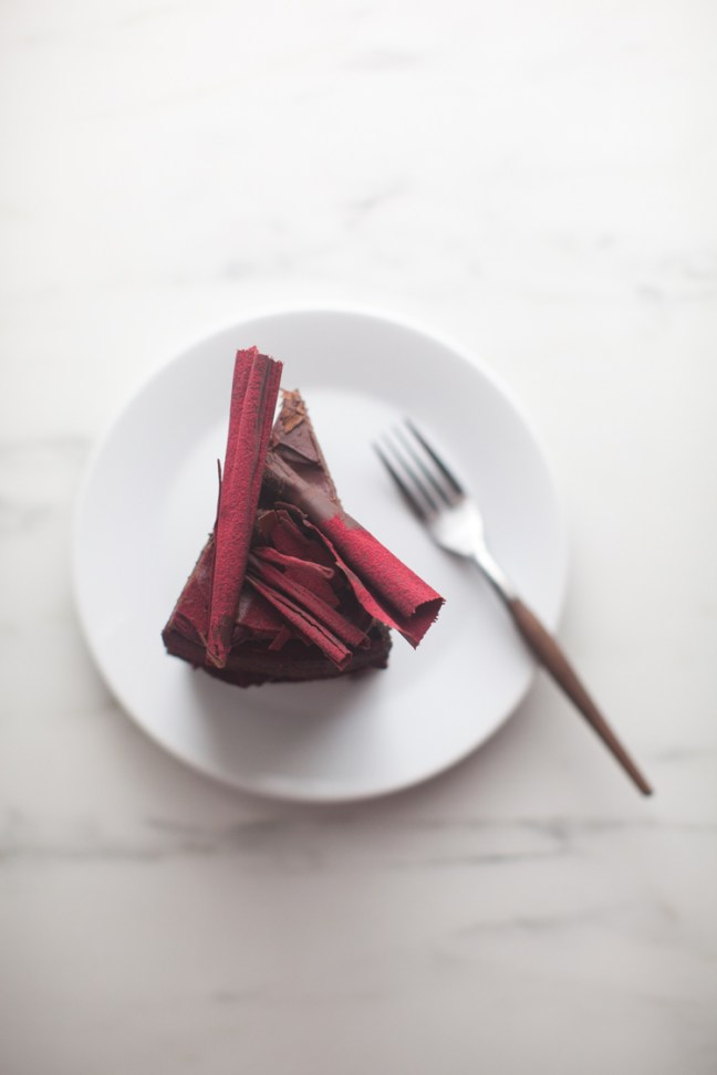 Chocolate Beet Cake with Ganache | ZoeBakes photo by Zoë François