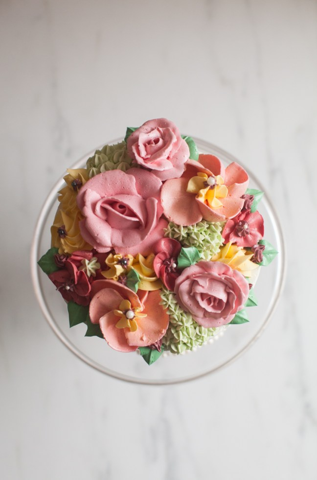 Buttercream Rose Cake | ZoëBakes | Photo by Zoë François