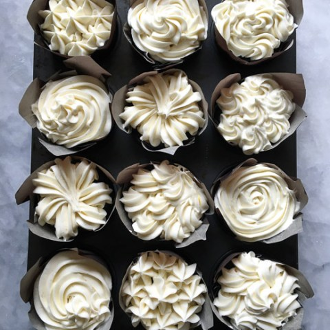 Devil's Food Cupcakes with Cream Cheese Icing