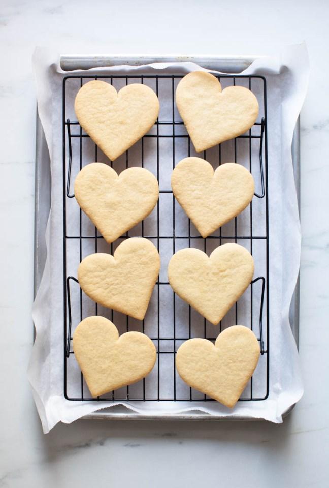 Valentine's Day Sugar Cookies with Blood Orange Glaze | Zoë Bakes