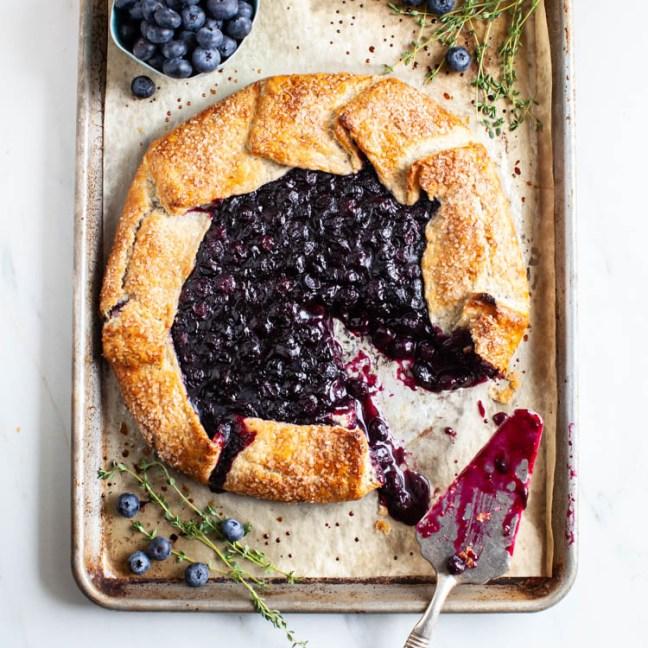 Blueberry Galette | ZoeBakes by Zoë François