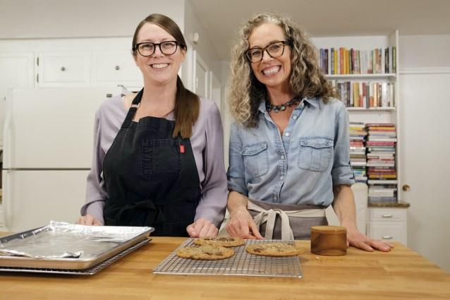 Host Zoe Francois and baker Sarah Kieffer