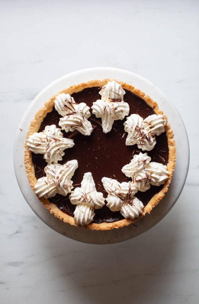 Bittersweet Chocolate Tart with Irish Cream
