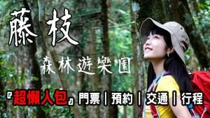 藤枝森林遊樂區 超懶人包 |預約|接駁|交通|行程|門票