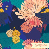 One of my most popular prints, this floral is full of rich, sumptuous colour. Perfect for stationery or textiles alike.
