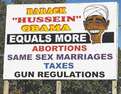 Racist Obama Sign 4