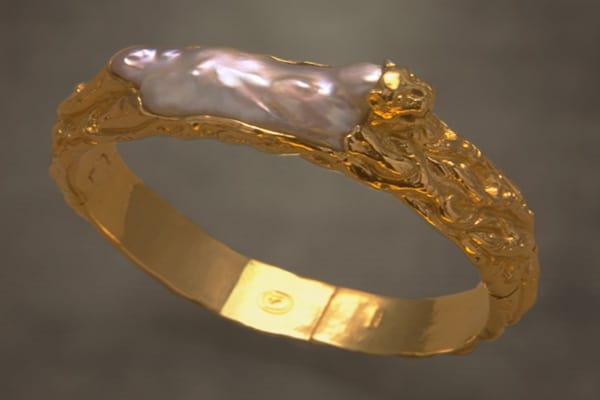 Fine Art Jewelry featuring a Golden Tiger Pearl Bracelet