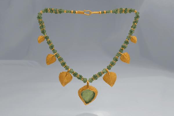 Emerald Leaf Necklace—Zoein Jewels Symbol Jewelry