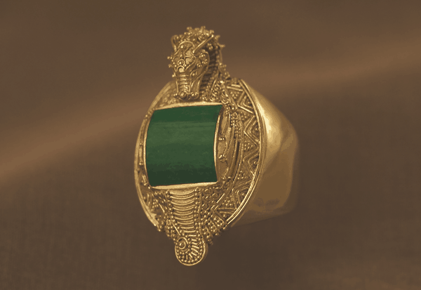 Jade Dragon Ring Fine Art Jewelry