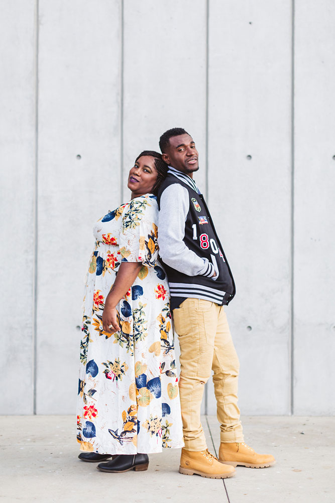 black couple anniversary photography in san francisco golden gate park