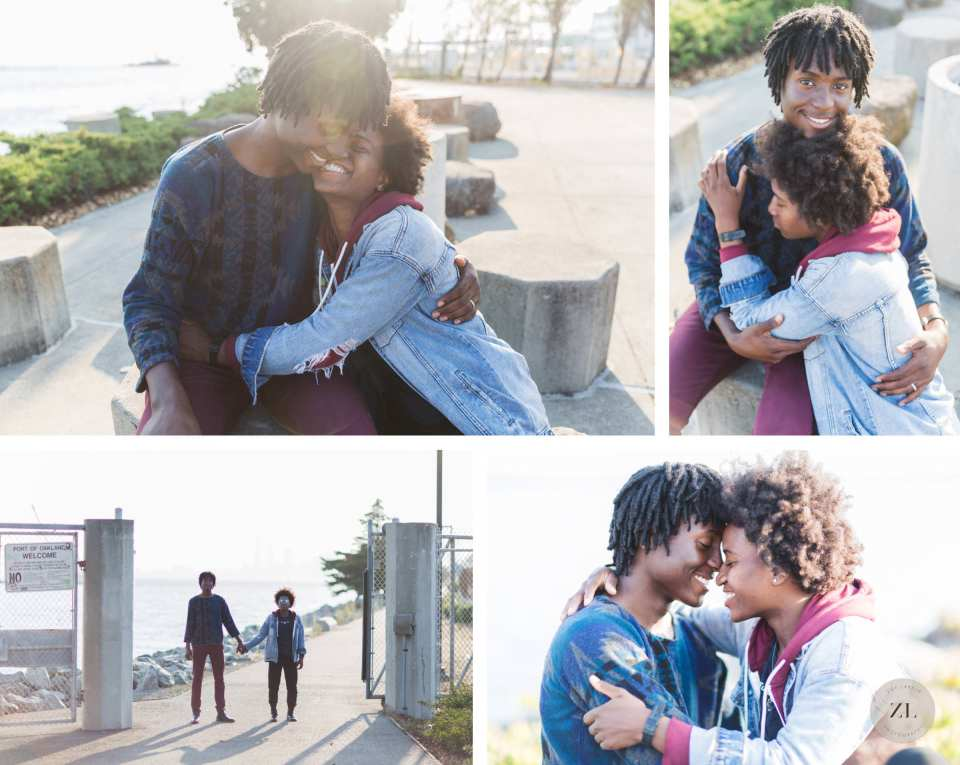 relaxed love photography at oakland's port view park