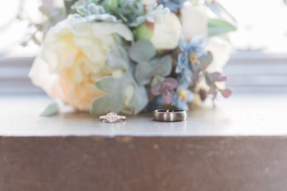 fake flower wedding bouquet at ethical wedding