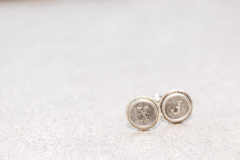 personalized monogrammed cufflinks for san francisco city hall wedding