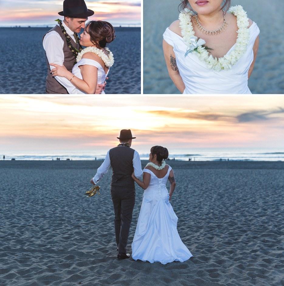 ocean beach san Francisco wedding couples intimate portraits