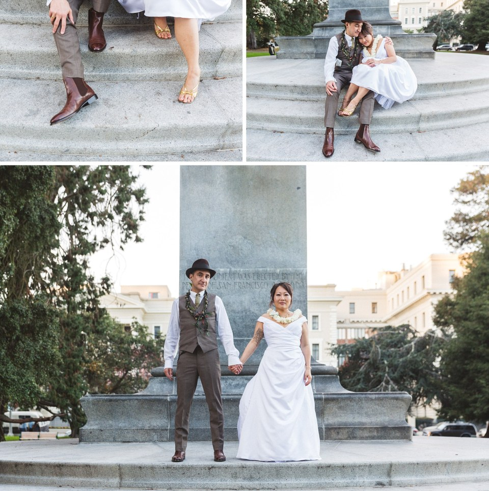 wedding photography at William McKinley Monument Panhandle san Francisco