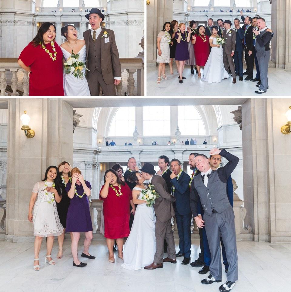 fun group photos at san francisco city hall