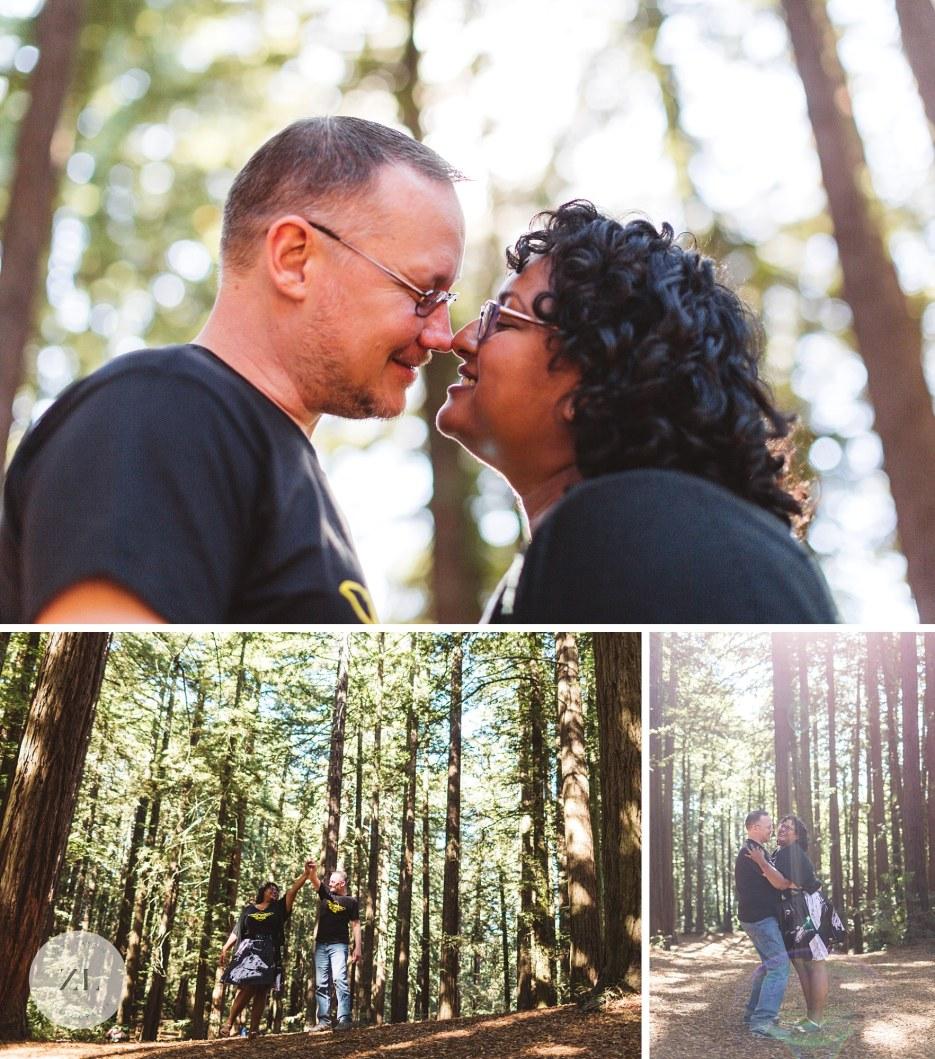 redwood wedding couple kissing