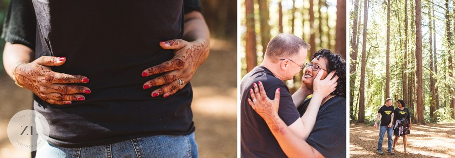 couples portraits in the oakland redwoods