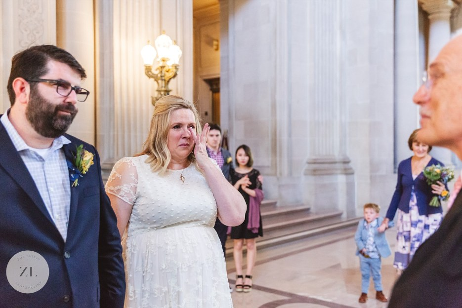tearful city hall wedding ceremony on mayor's balcony