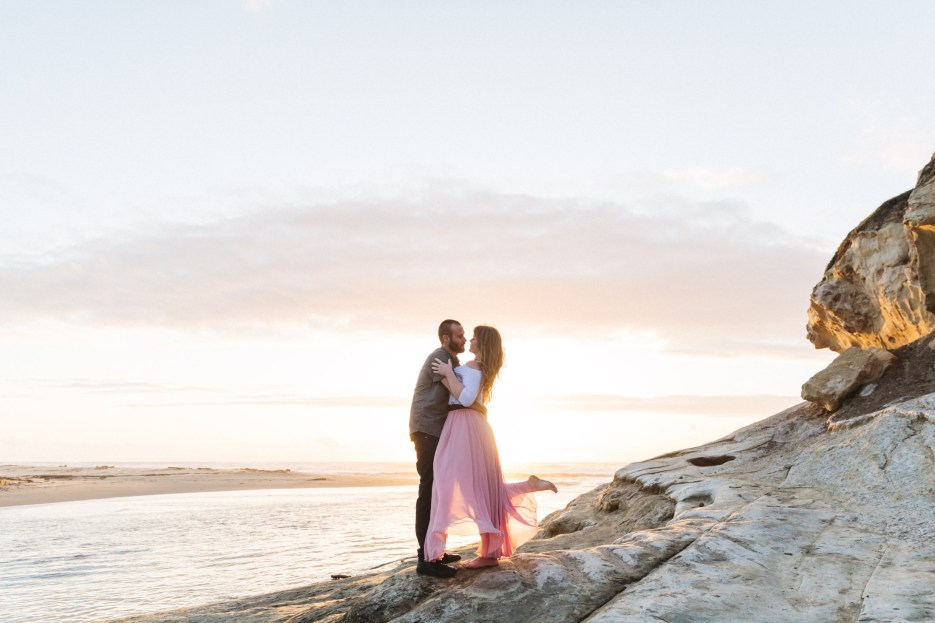 san gregorio state beach engagement photography