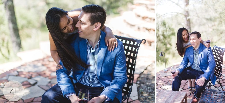 winery engagement shoot in napa