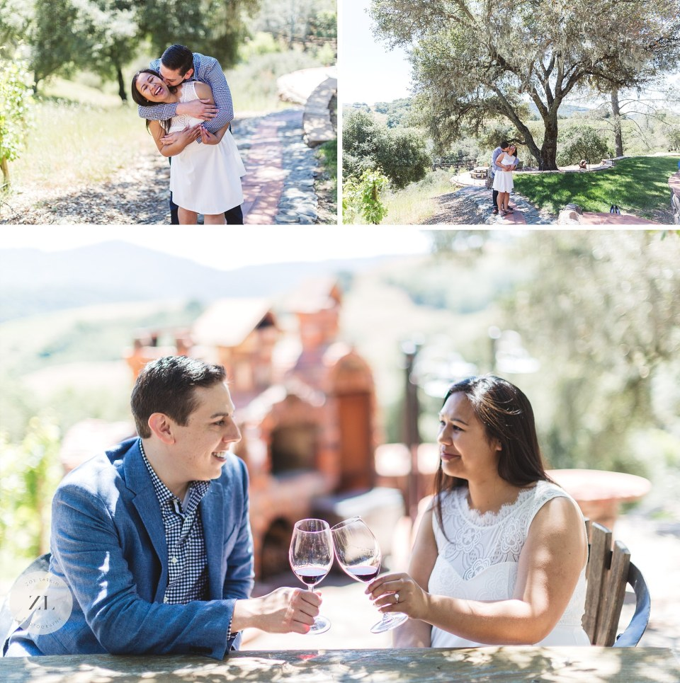 kuleto estate winery engagement photos