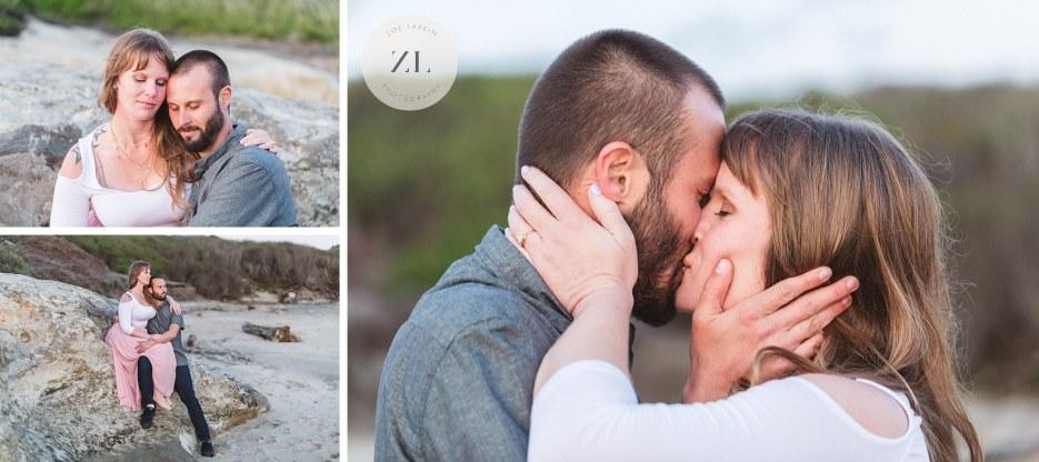 beach photoshoot with california engagement photographer