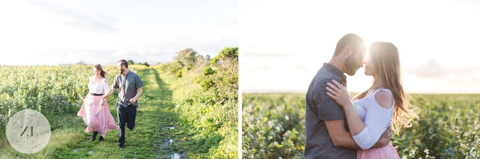 summer flower meadow in san mateo county engagement photoshoot near San Gregorio