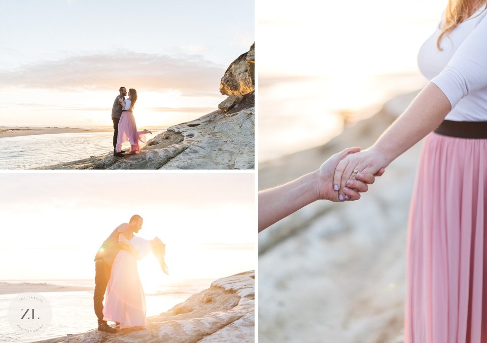 engagement photos at san gregorio state beach