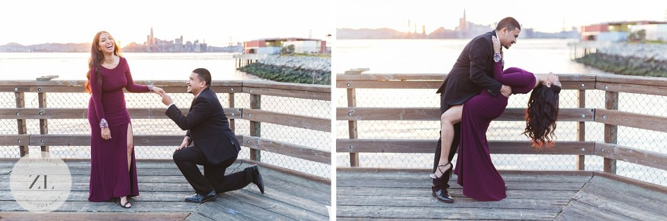 oakland engagement shoot at port view park east bay