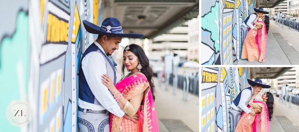 indo-fijian couple at oakland engagement shoot