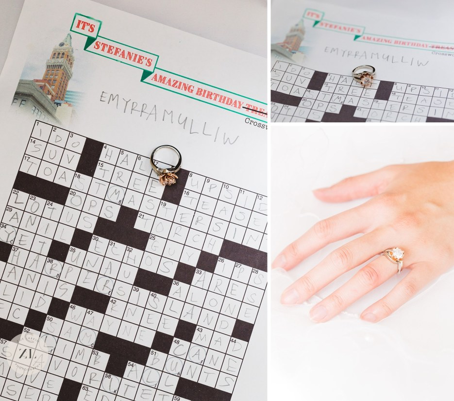 engagement ring crossword puzzle treasure hunt proposal