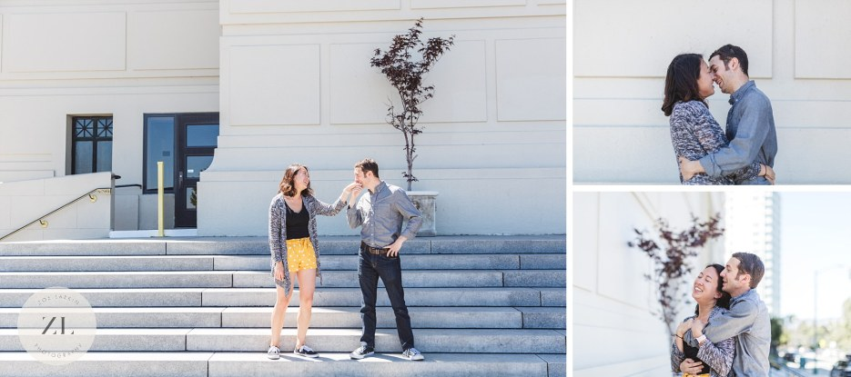 dancing couple get engaged at scottish rite center oakland