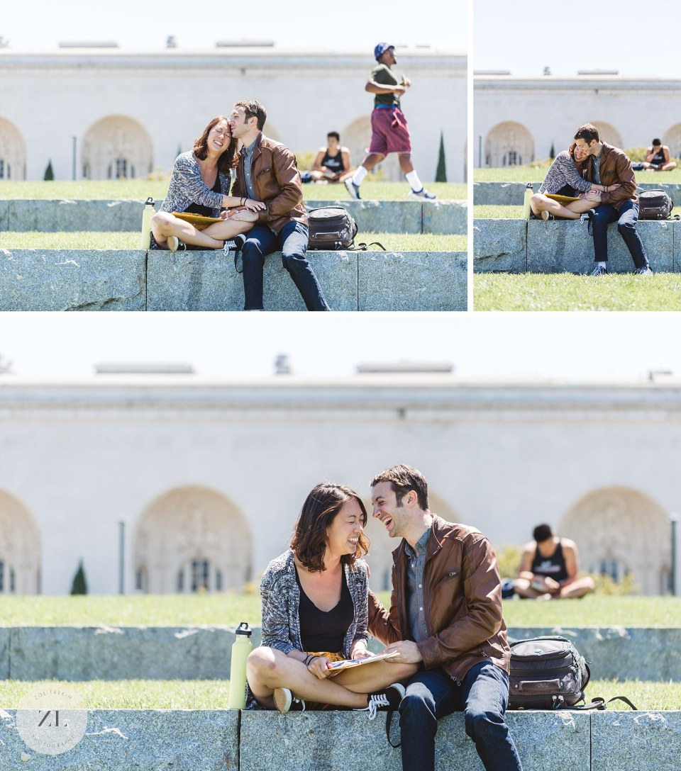 Bay Area proposal photography - getting engaged at the Oakland's amphitheater