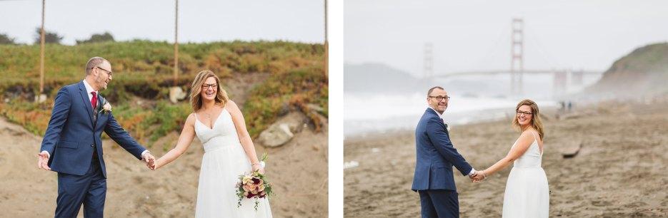 baker beach san francisco wedding portraits