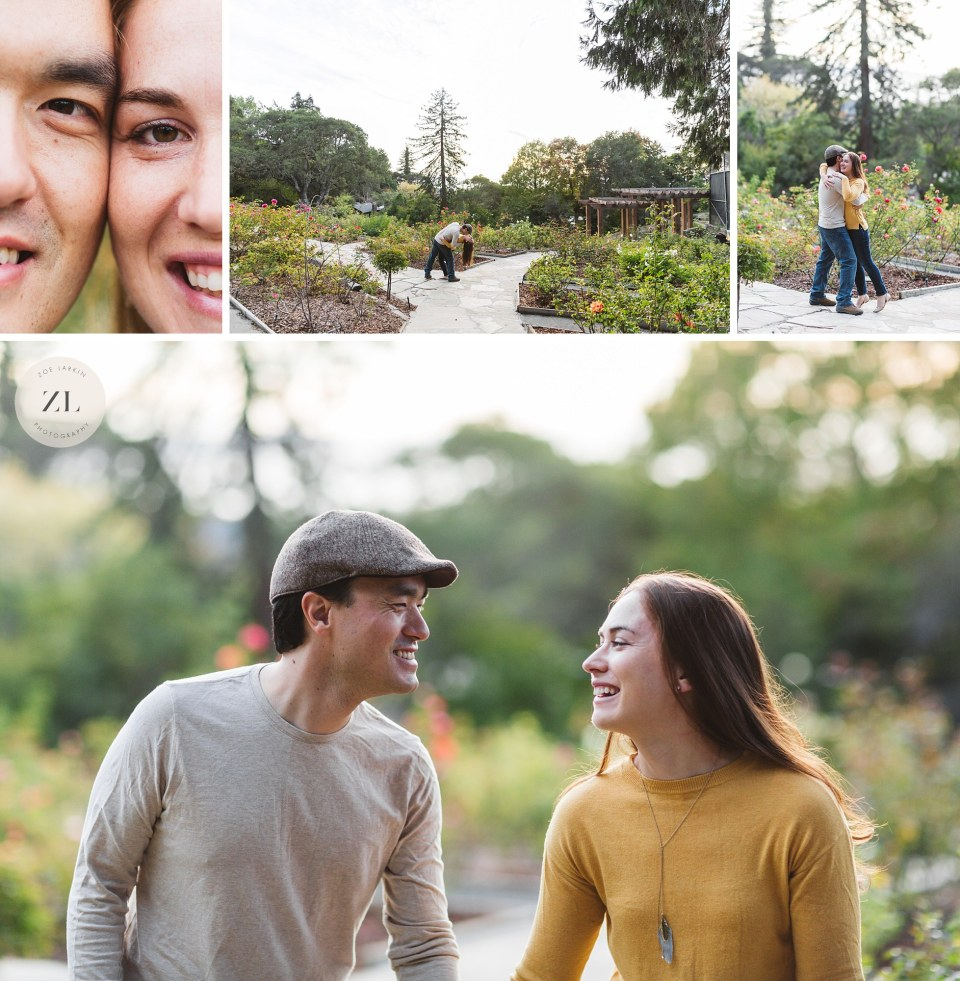 sweet natural couple engagement photos in berkeley east bay