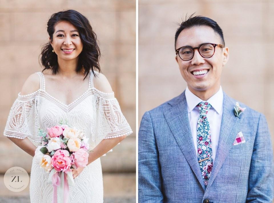 individual portraits of san francisco city hall wedding