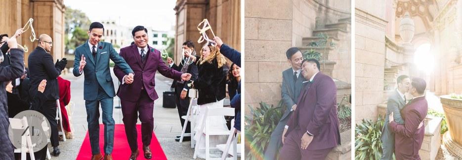 palace of fine arts sf same sex wedding ceremony